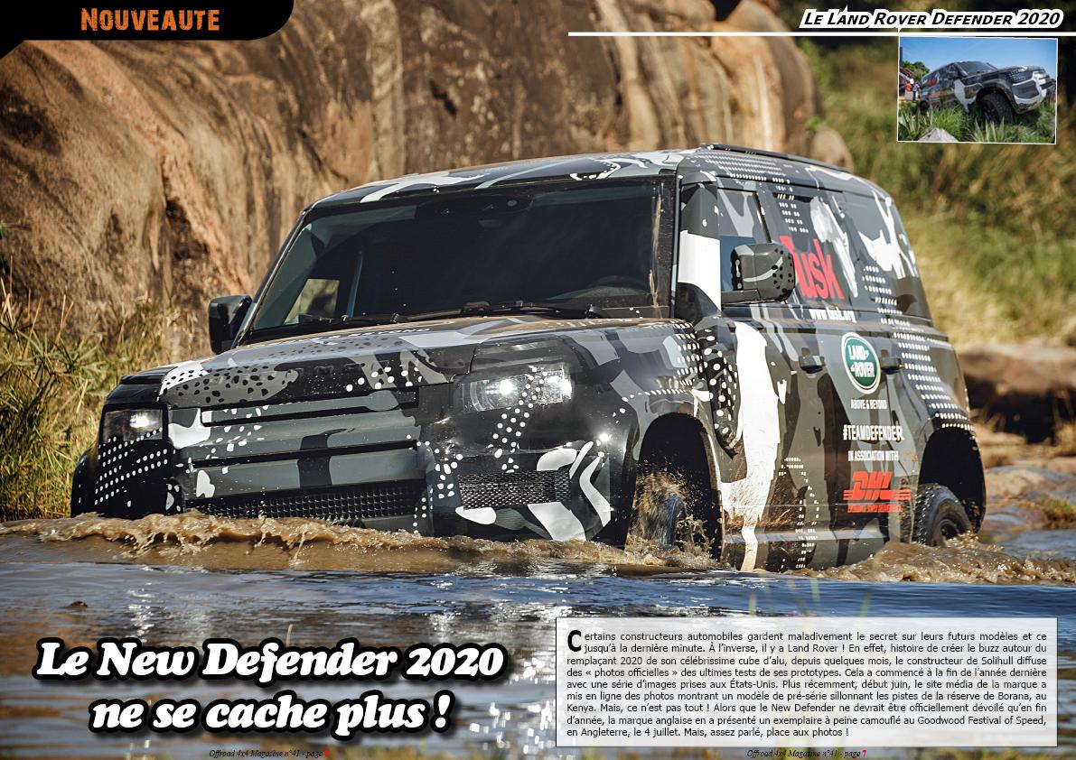le Land Rover Defender 2020