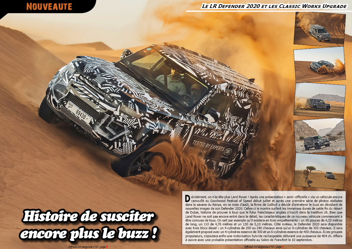 le LR Defender 2020 et les Defender Classic Works Upgrade