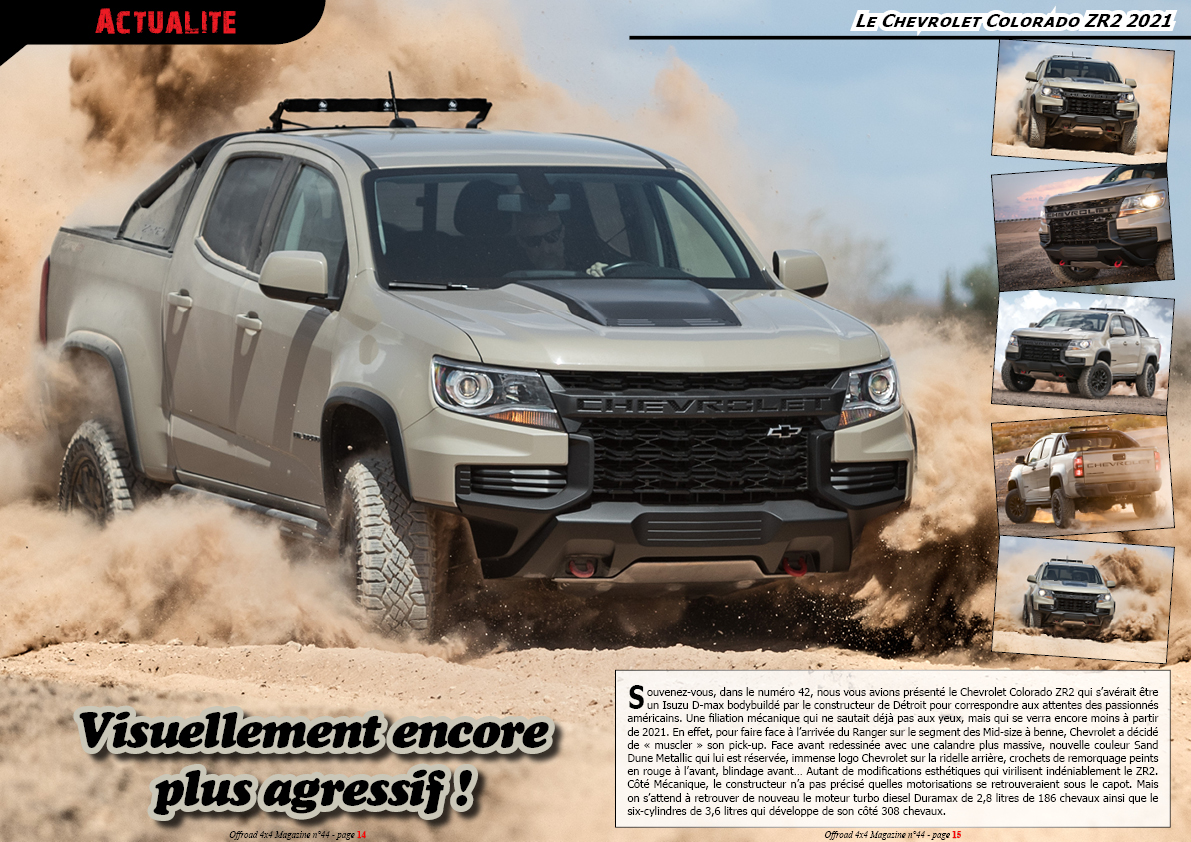 le Chevrolet Colorado ZR2 2021