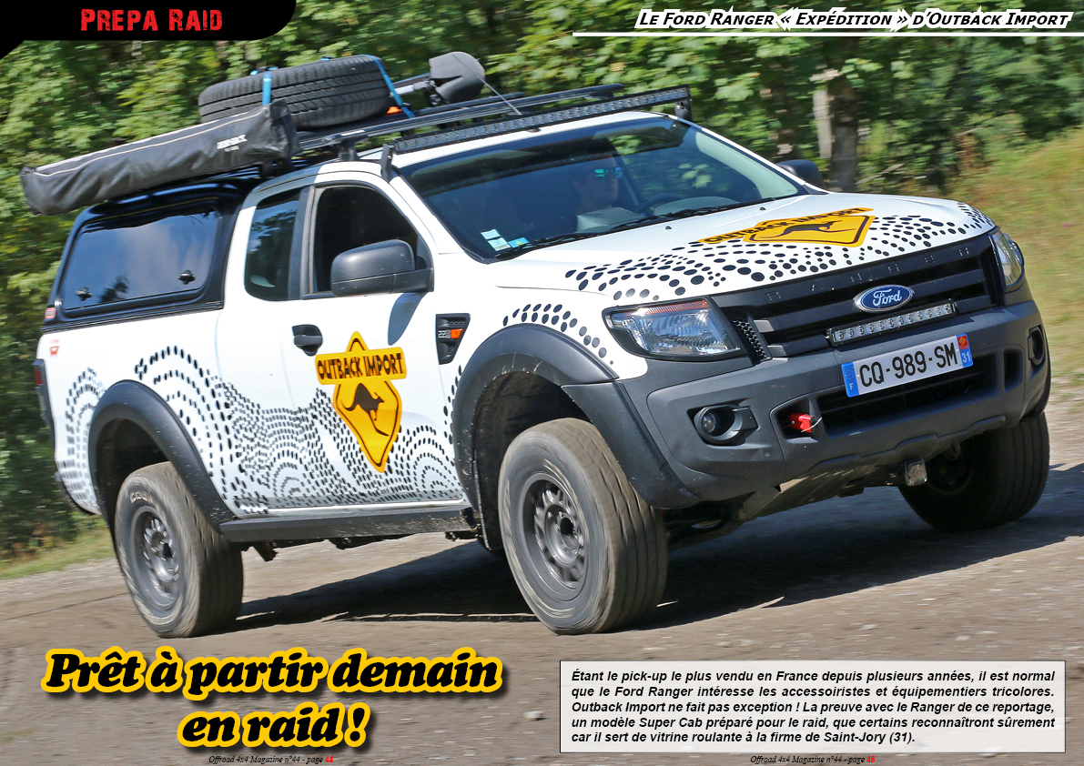 le Ford Ranger Expédition d'Outback Import