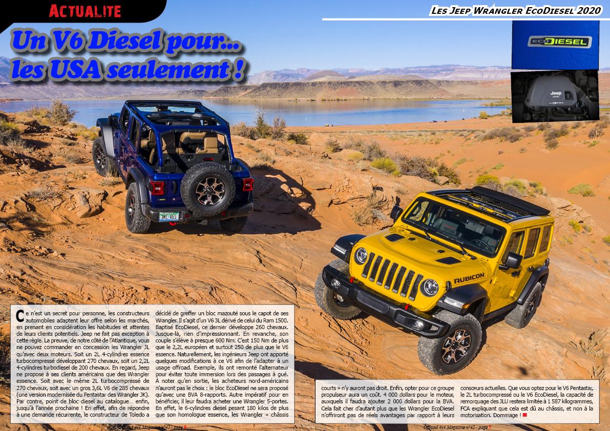 les Jeep Wrangler EcoDiesel 2020