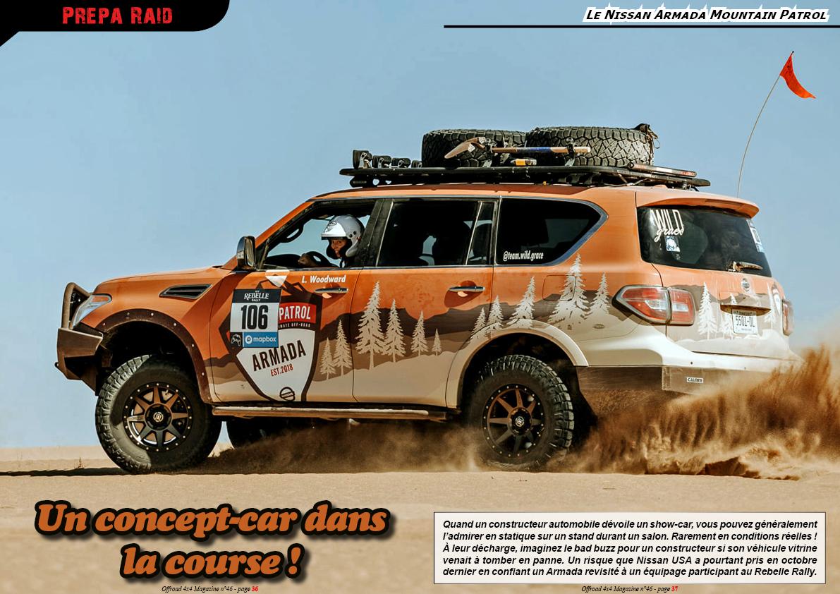 Le Nissan Armada Mountain Patrol