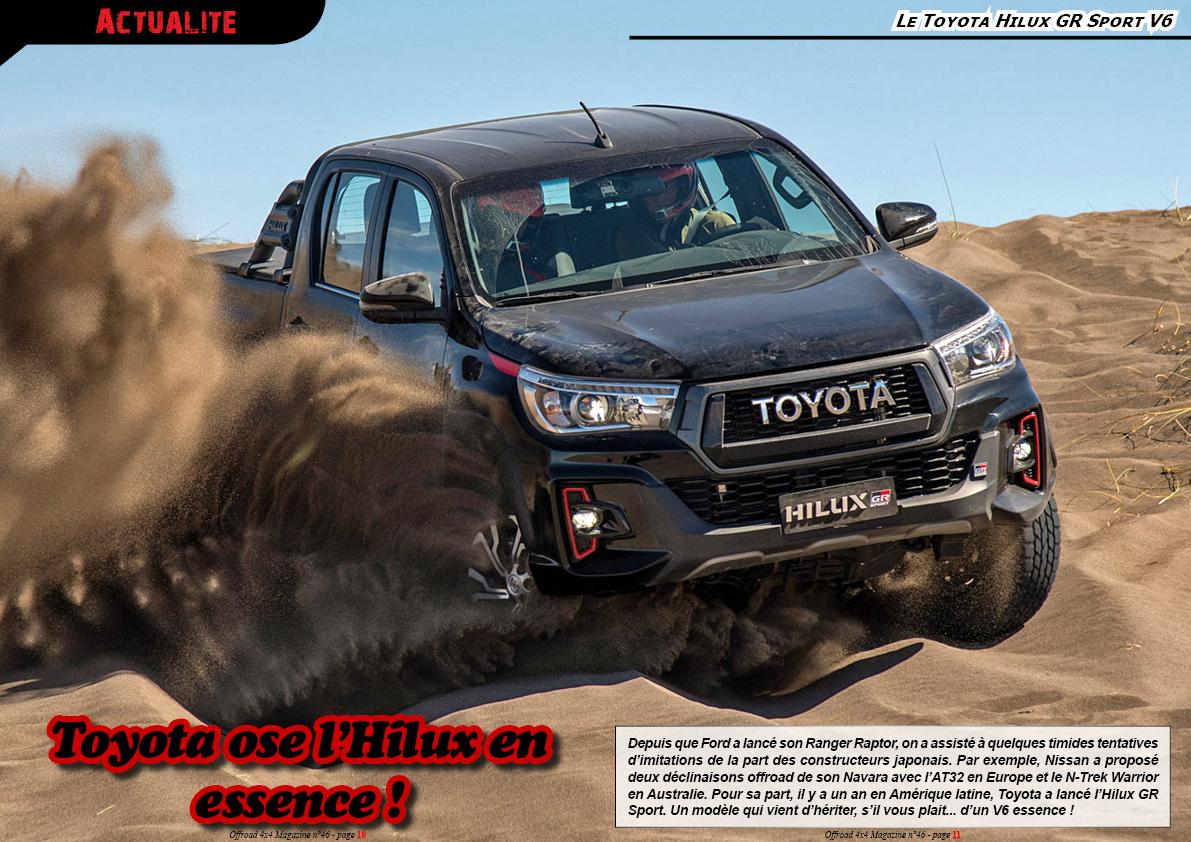 le Toyota Hilux GR Sport V6