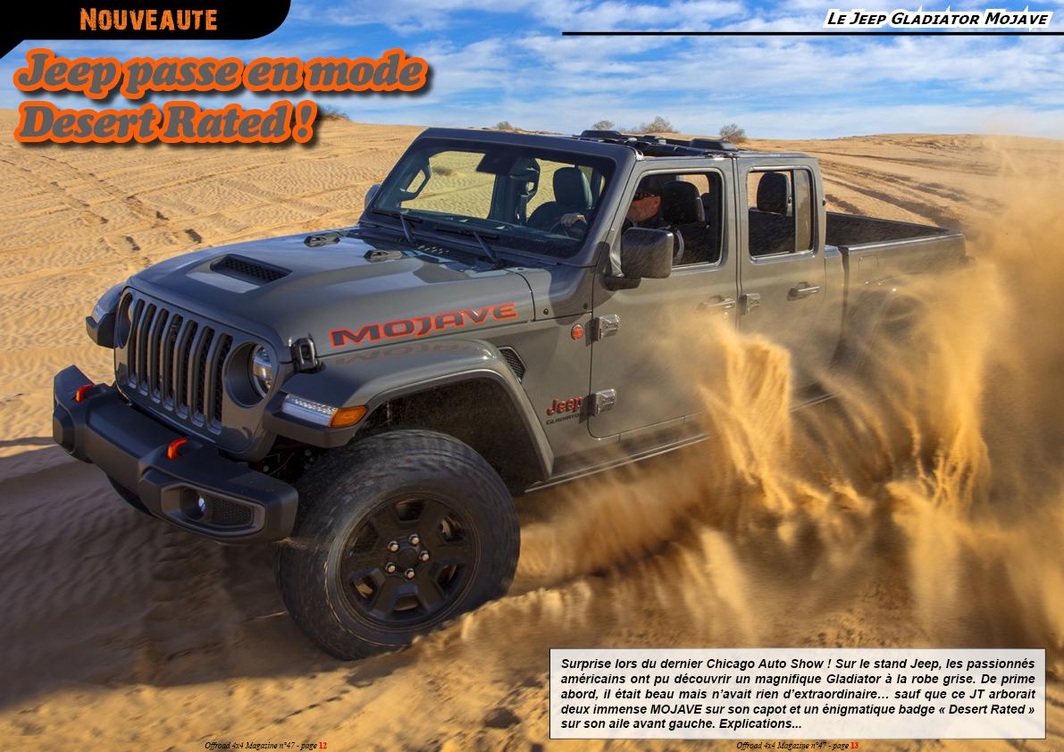 le Jeep Gladiator Mojave