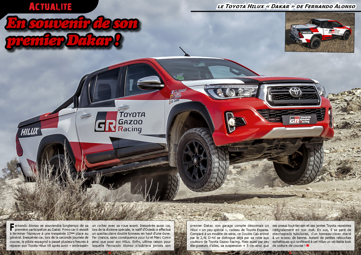 le Toyota Hilux «Dakar» de Fernando Alonso