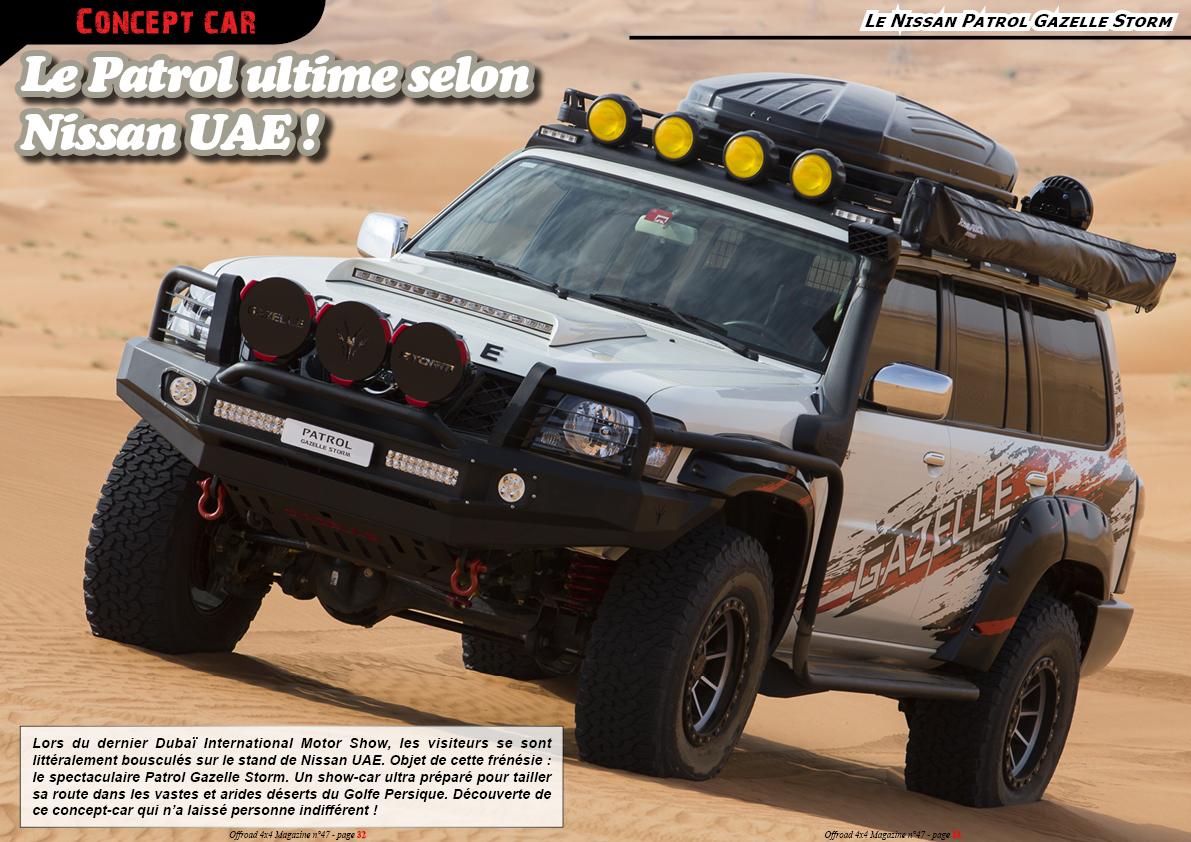 le Nissan Patrol Gazelle Storm et le Navara Gazelle