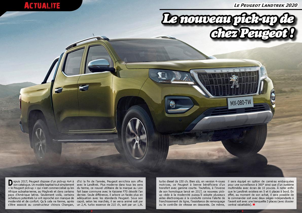 le Peugeot Landtrek 2020
