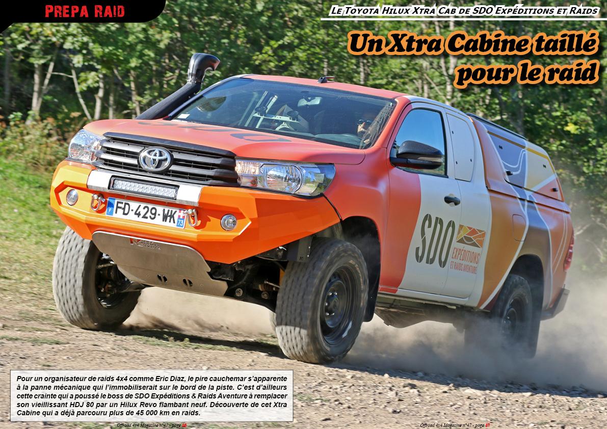 le Toyota Hilux Xtra Cab de SDO Expéditions et Raids Aventure