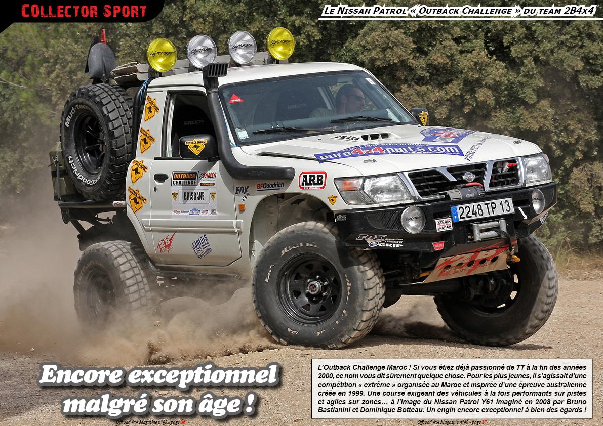 le Nissan Patrol « Outback Challenge » du team 2B4x4