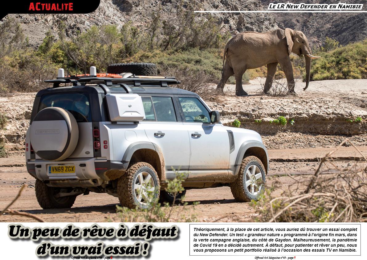 Le LR New Defender en Namibie