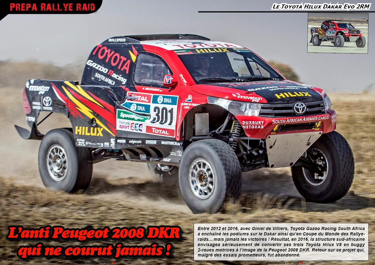 le Toyota Hilux Dakar Evo 2RM