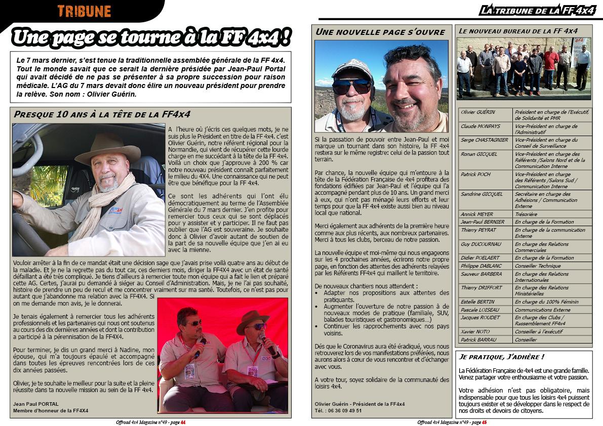 Tribune de la FF 4x4