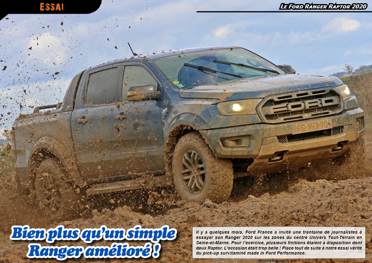L'essai du Ford Ranger Raptor 2020