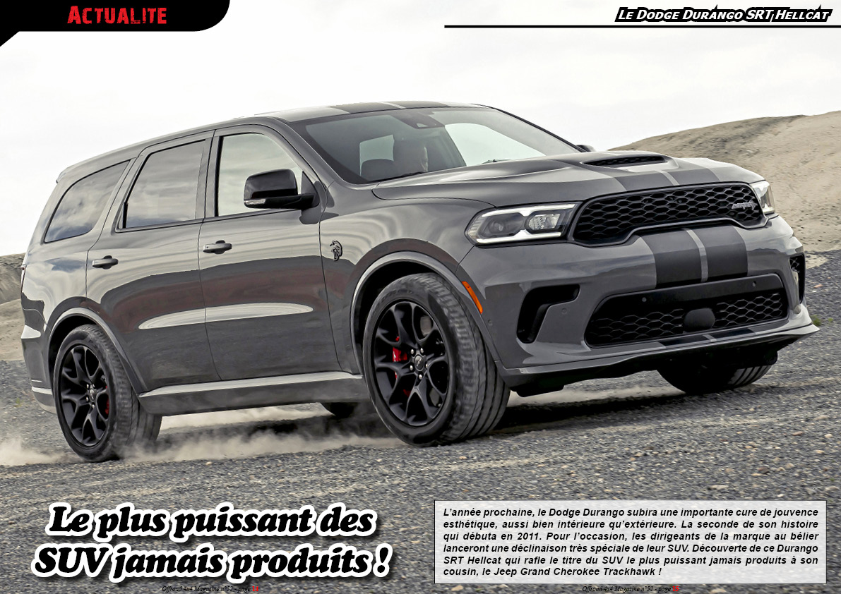 le Dodge Durango SRT Hellcat