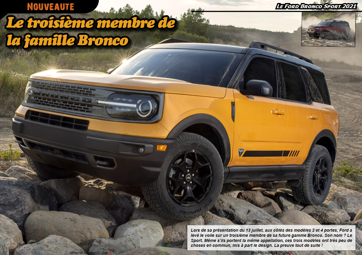 le Ford Bronco Sport 2021