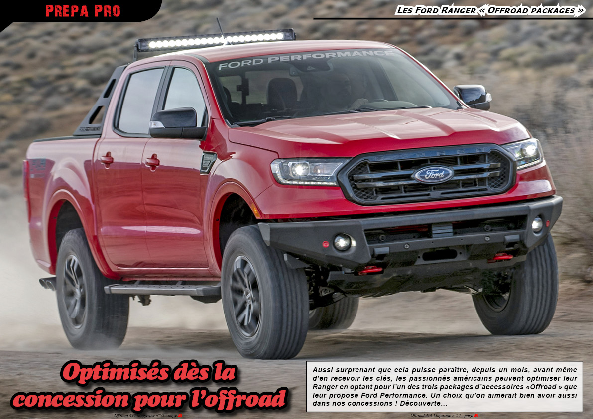 les Ford Ranger Offroad packages