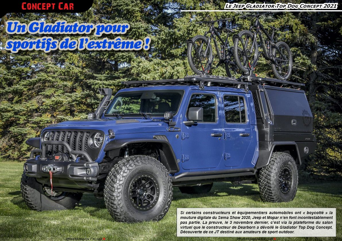 le Jeep Gladiator Top Dog Concept 2021