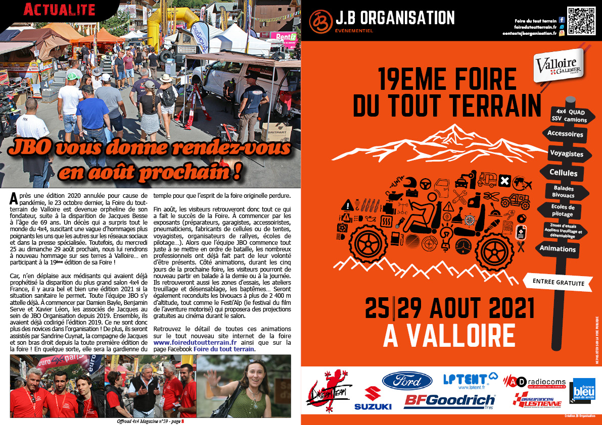 Présentation de la Foire du tout terrain de Valloire 2021