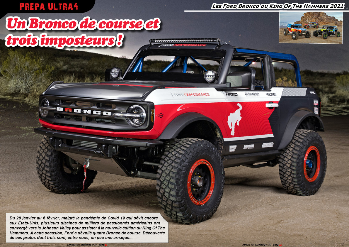 les Ford Bronco du King Of The Hammers 2021