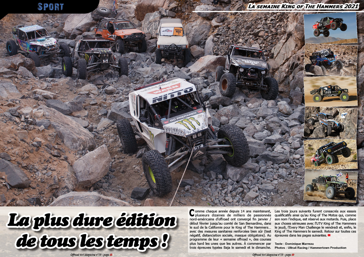 la semaine King of The Hammers 2021
