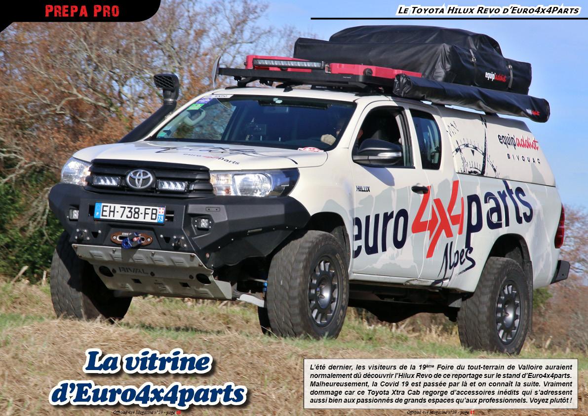 le Toyota Hilux Revo d' Euro4x4Parts