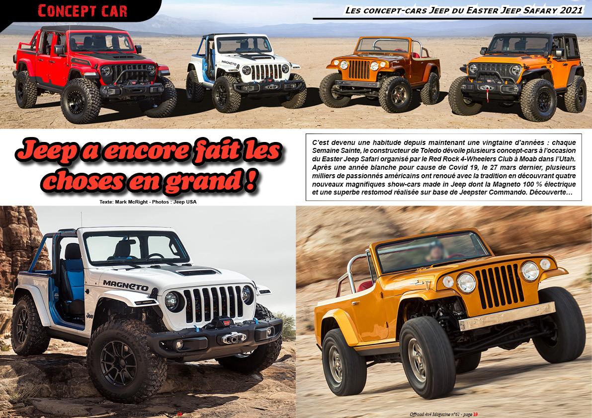 les concept-cars Jeep du Easter Safary 2021