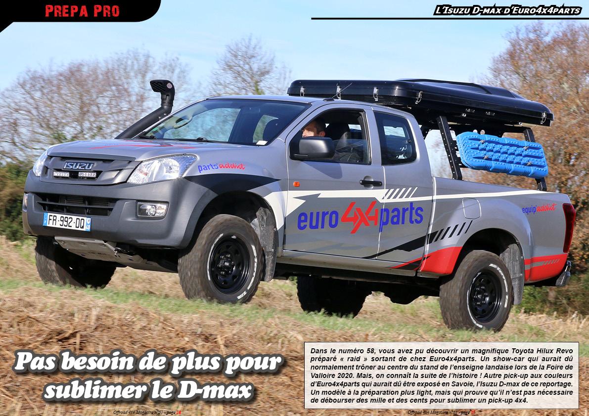 l'Isuzu D-max d'Euro4x4parts