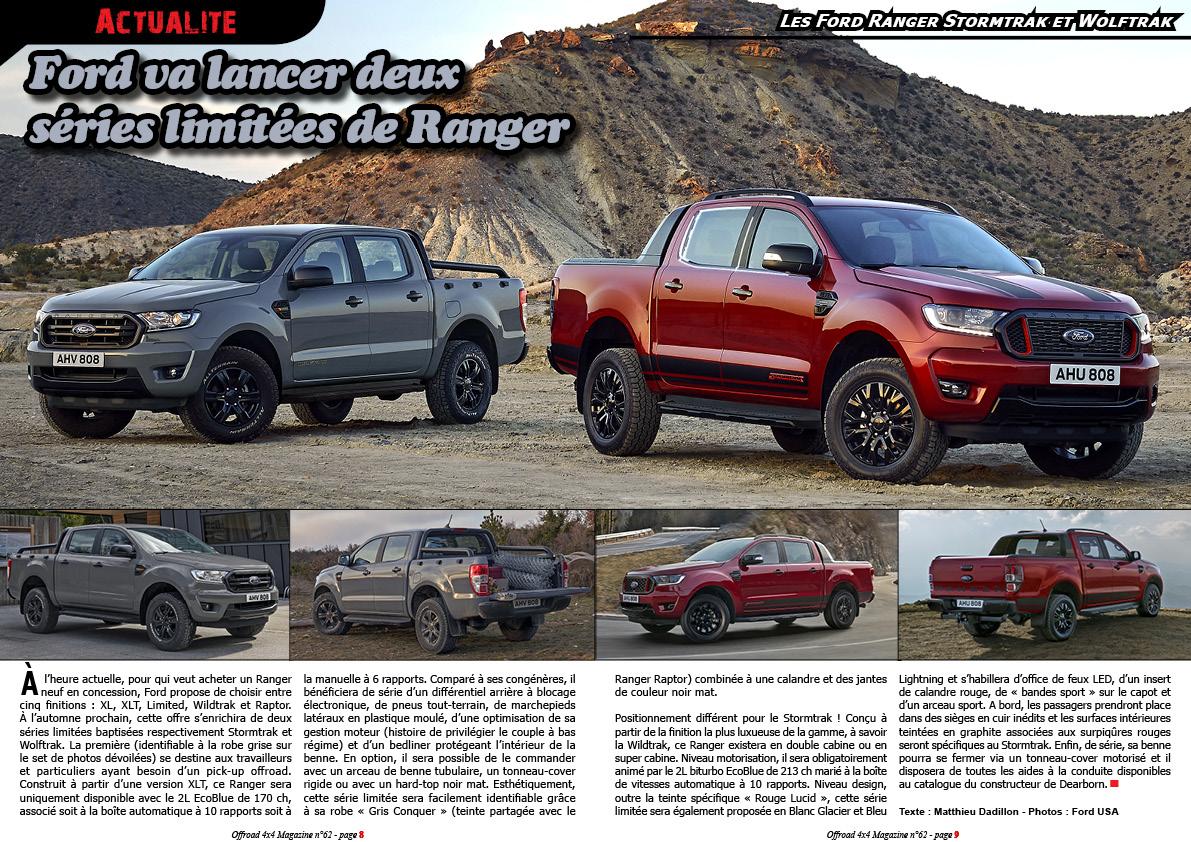 les Ford Ranger Stormtrak et Wolftrak