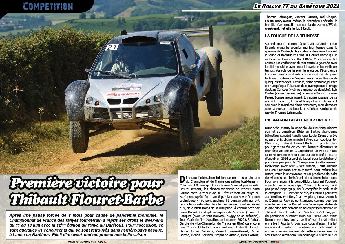 le Rallye TT du Barétous 2021