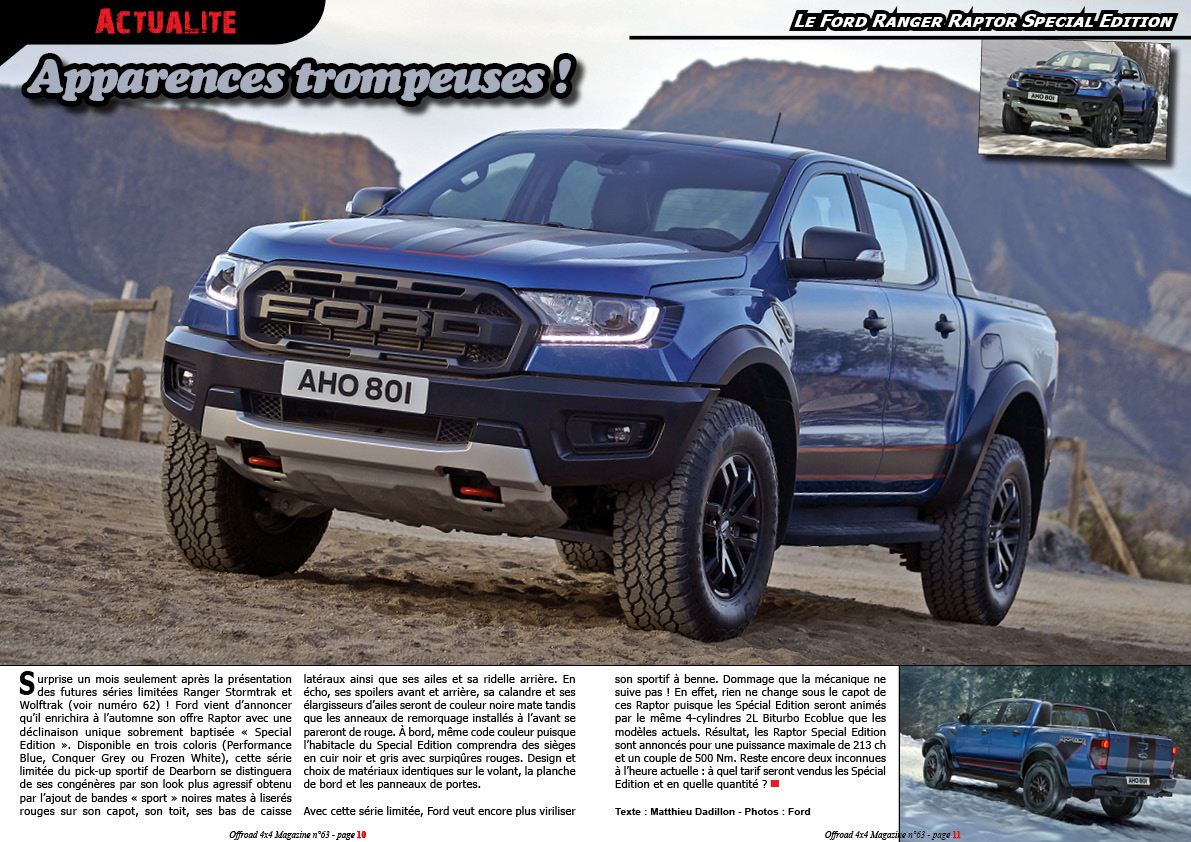 le Ford Ranger Raptor Special Edition