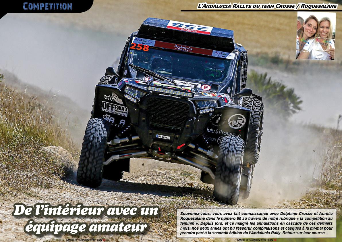l'Andalucia Rallye du team Crosse / Roquesalane