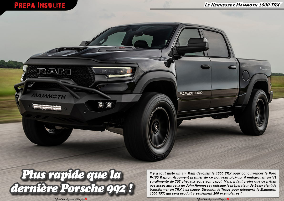 le Hennessey Mammoth 1000 TRX