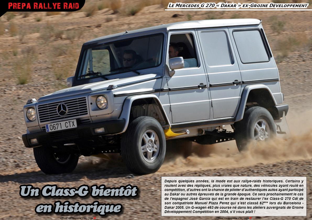 le Class-G 270 « Dakar » ex-Groine Developpement