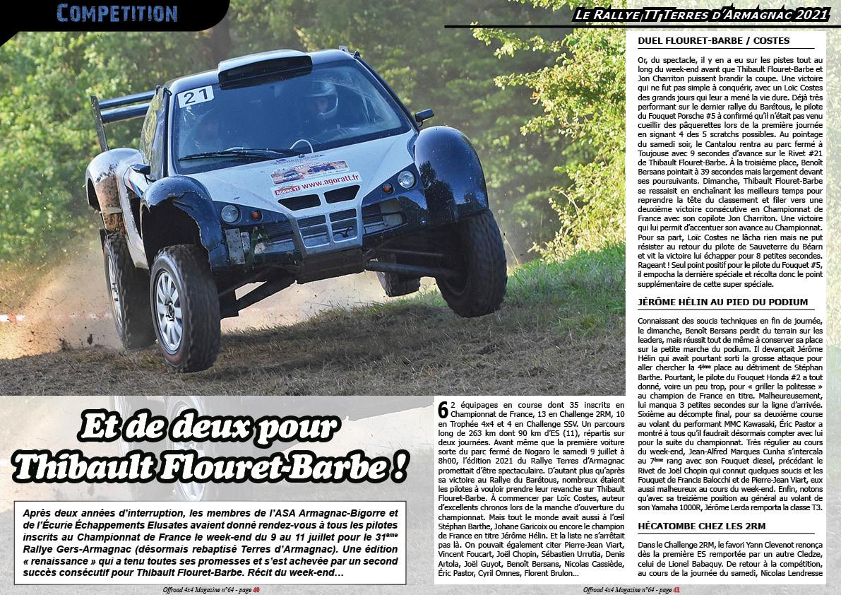 le Rallye TT Terres d'Armagnac 2021
