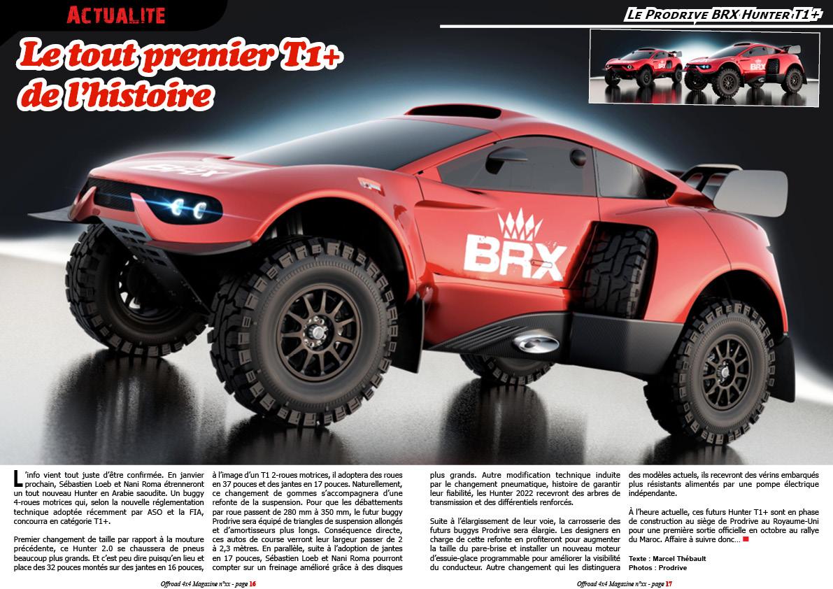 Le Prodrive BRX Hunter T1+