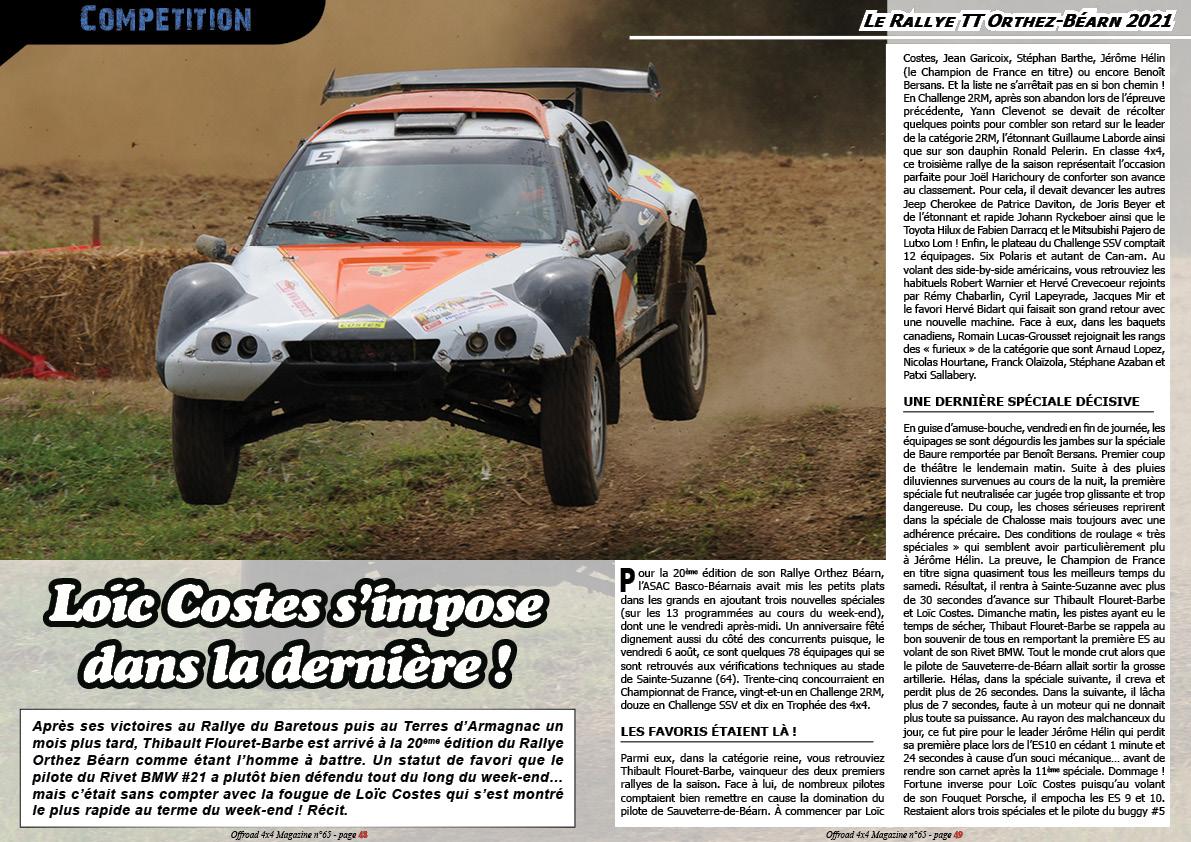 Le Rallye TT Orthez-Béarn 2021