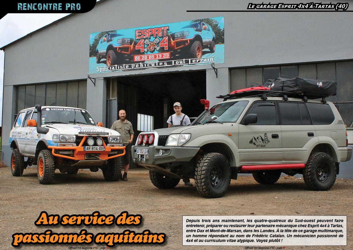 La visite du garage Esprit 4x4 à Tartas (40)
