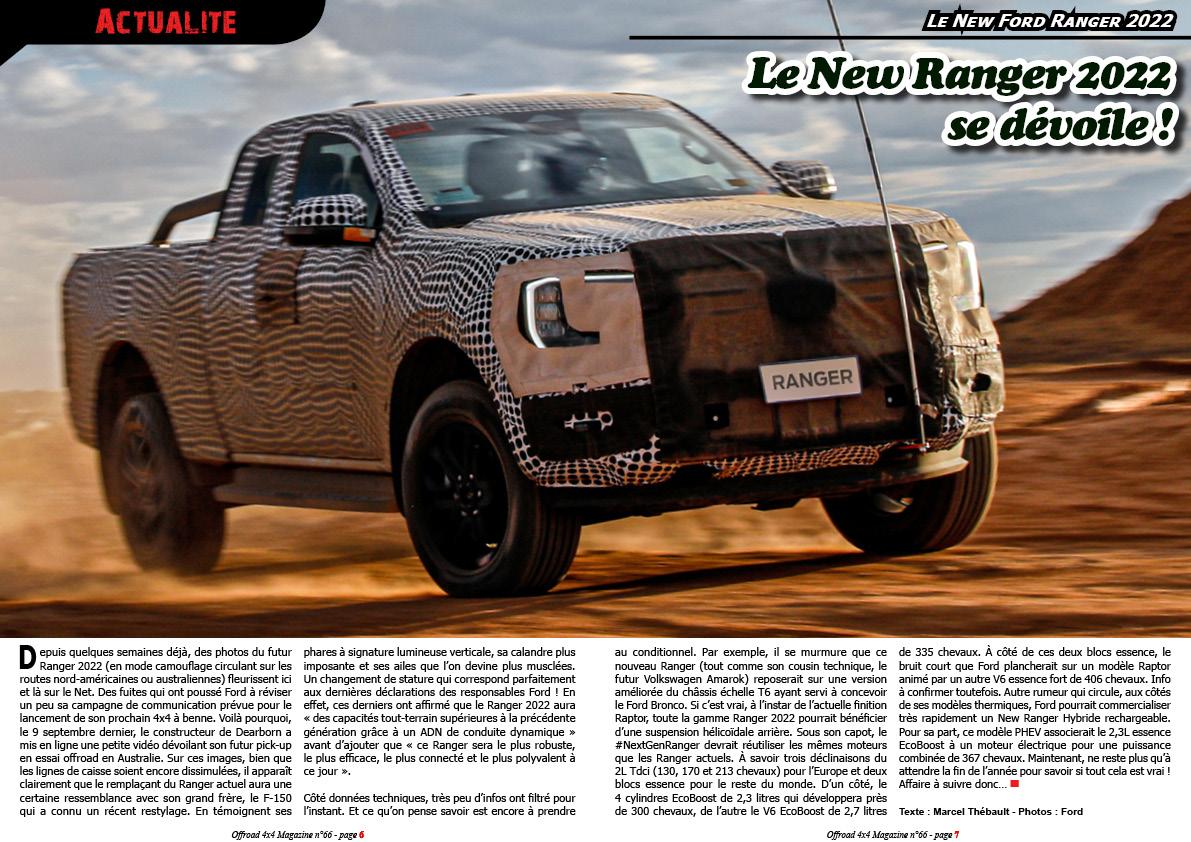 le New Ford Ranger 2022